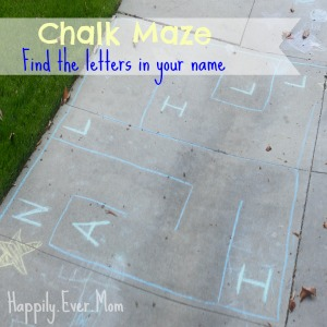 Chalk maze with banner