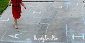 chalk maze Lil running
