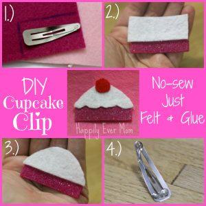 DIY Cupcake Clip for Kids