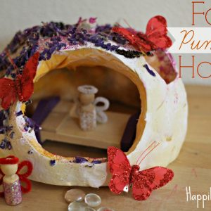 A Not-So-Scary Fairy Pumpkin House
