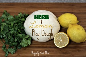Herb and Lemon Playdough