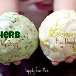 Herb and Lemon Peel Play dough