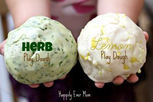 Herb and Lemon Playdough mixed
