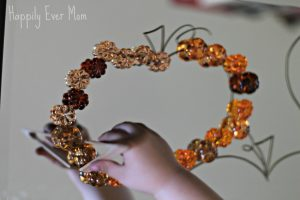Making a border around the pumpkin - Happily Ever Mom