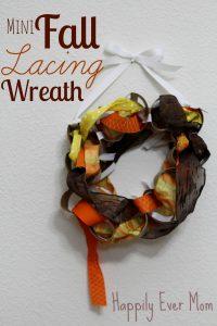 Mini Fall Lacing Wreath