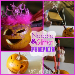 Noodle and Glitter Pumpkin