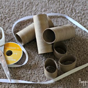 Mini Fall Lacing Wreath: TP Rolls and Ribbons