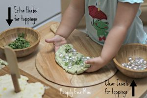 Toppings for Lemon Herb Play dough Pizza