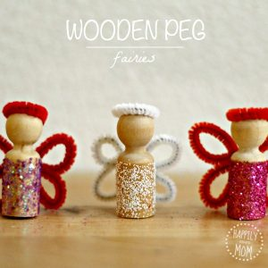 DIY Glitter and Pipe Cleaner Wooden Peg Fairies