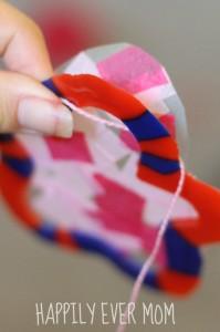 Adding string to hang the suncatcher