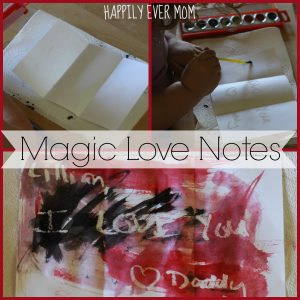 How to make Magic Love Notes from Happilyevermom
