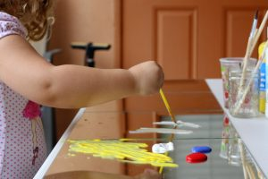 Painting with Mirrors L explores the color white from Happilyevermom