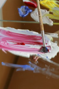 Painting with Mirrors color mixing from Happilyevermom