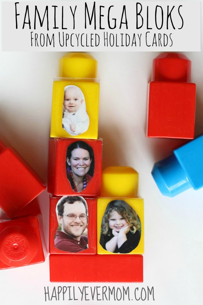 Simple way to help little ones recognize faces.  My toddler recognizes everyone in our extended family because of playing with this DIY block set!  We love it!!
