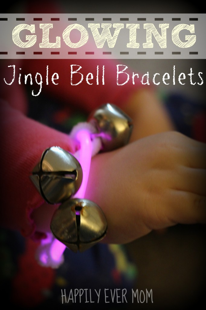 Glow in the Dark Jingle Bell Braceletes from Happilyevermom