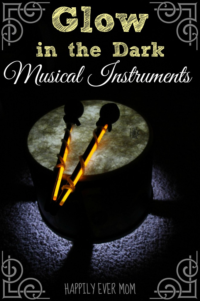 Glow in the Dark Musical Instruments from Happilyevermom