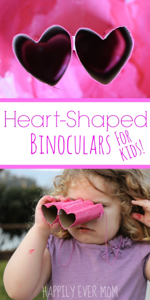 Heart Shaped Binoculars for kids - an easy Valentine's day craft or a fun activity for a birthday party