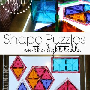 Shape Puzzles: Early Learning on the Light Table