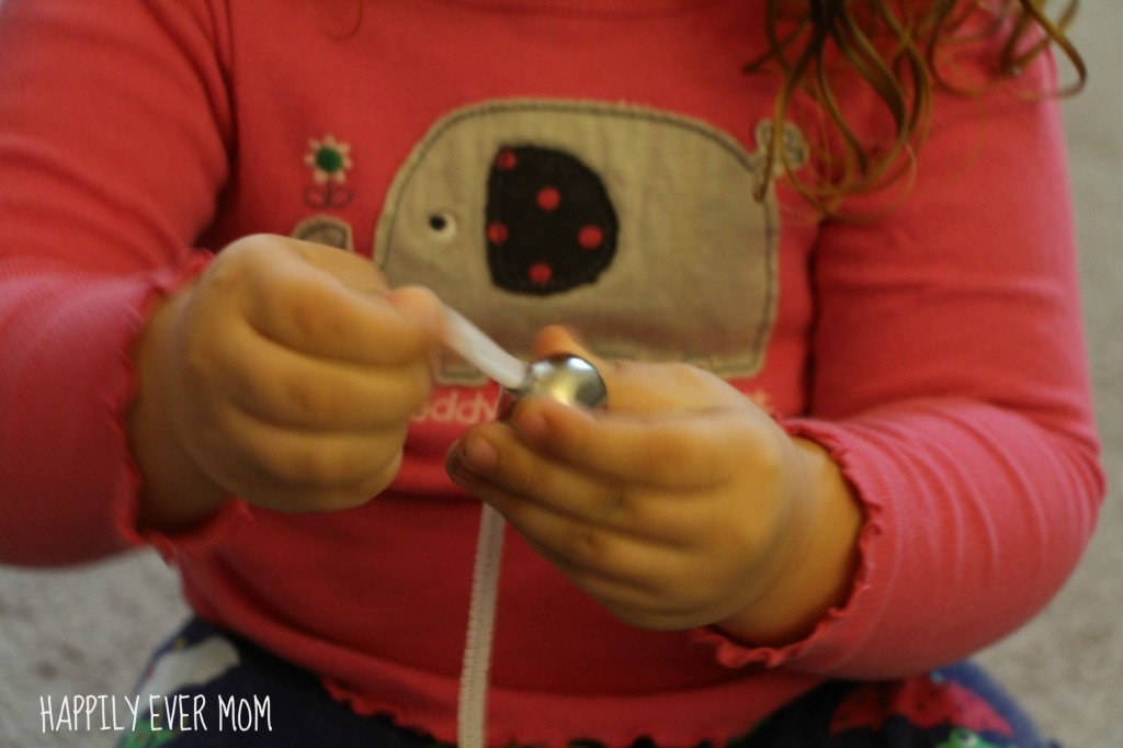 Threading Glow in the dark jingle bell bracelet from Happilyevermom