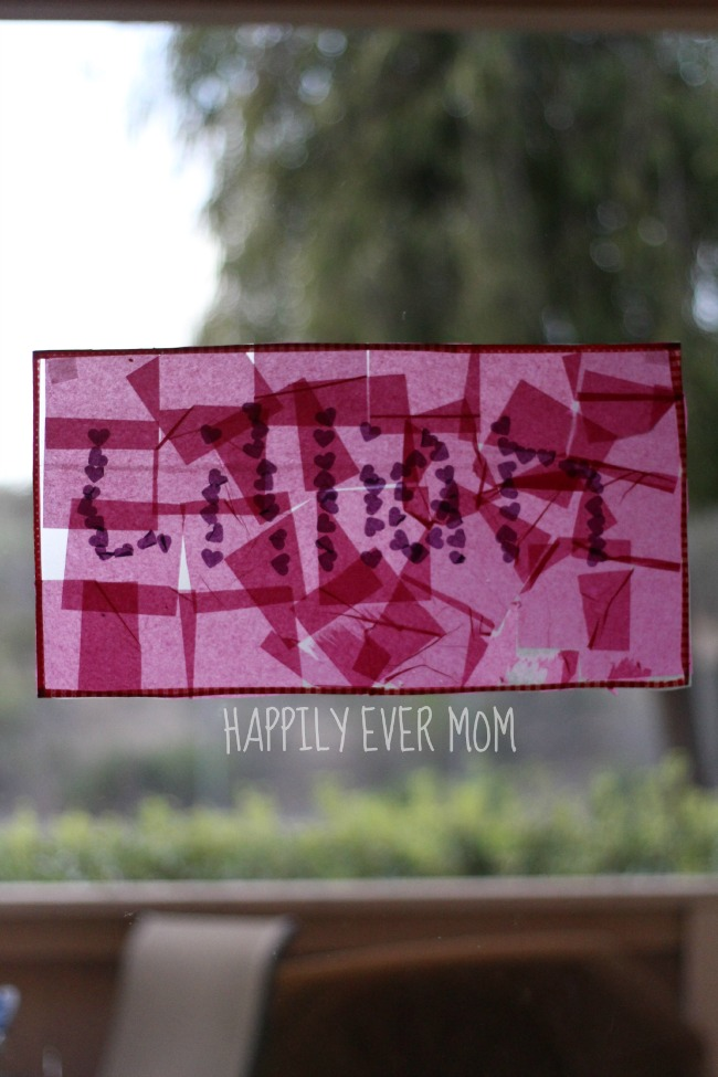 Help Kids Learn Their Name with a personalized suncatcher