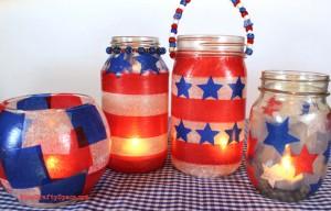 red white blue patriotic lanterns