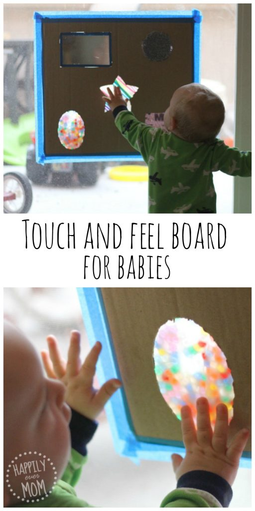Now, this is a fun baby activity. I love that everything is used from materials that they had around the house. It's not only beautiful to look at, but it's fun to touch! My baby will absolutely LOVE this!