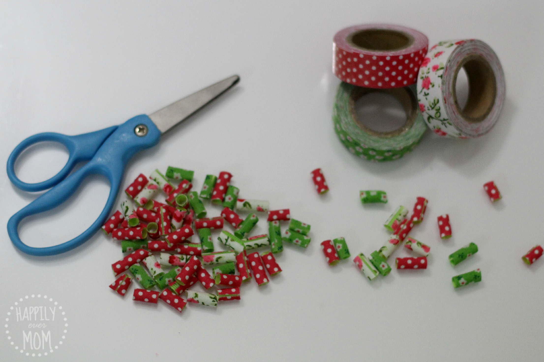 DIY Fabric Beads} Making Jewelry with Kids - Happily Ever Mom