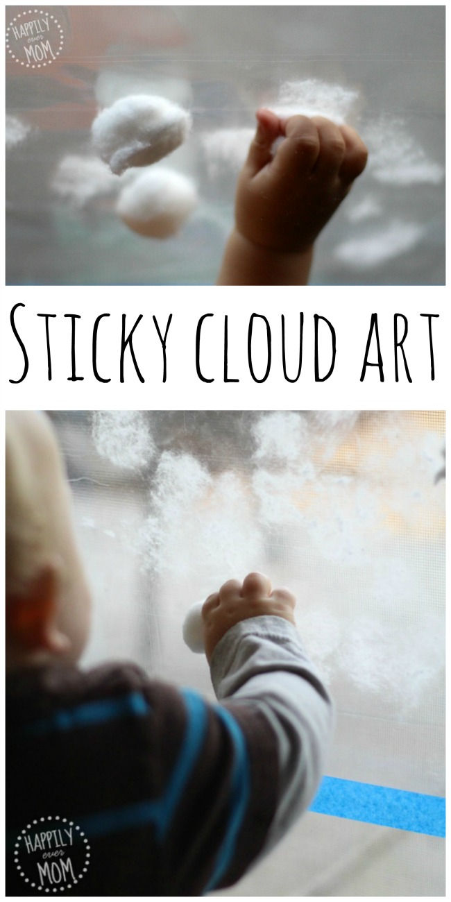 Sticky art clouds in the window
