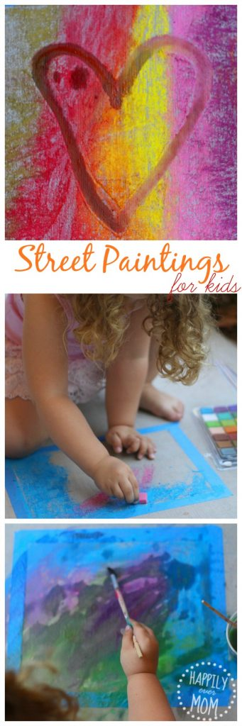 Chalk art for preschoolers from Master of the Arts