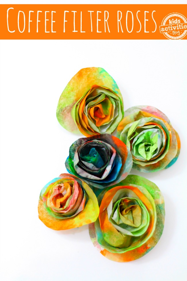 Coffee filter craft roses