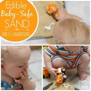 Edible baby safe sand