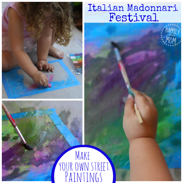 Make your own chalk art for preschoolers