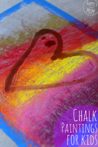 chalk art for preschoolers with water and brushes