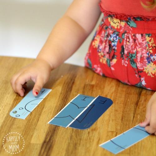 paint chip puzzles for kids
