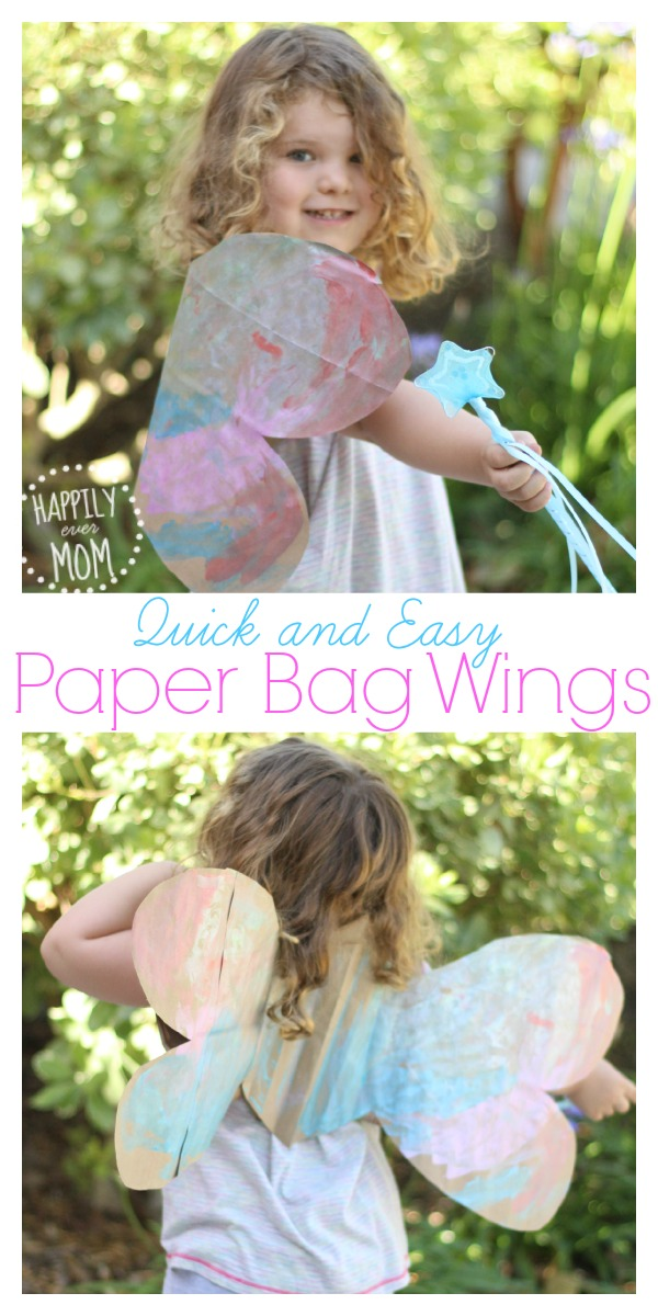 How to make wings with a paper bag