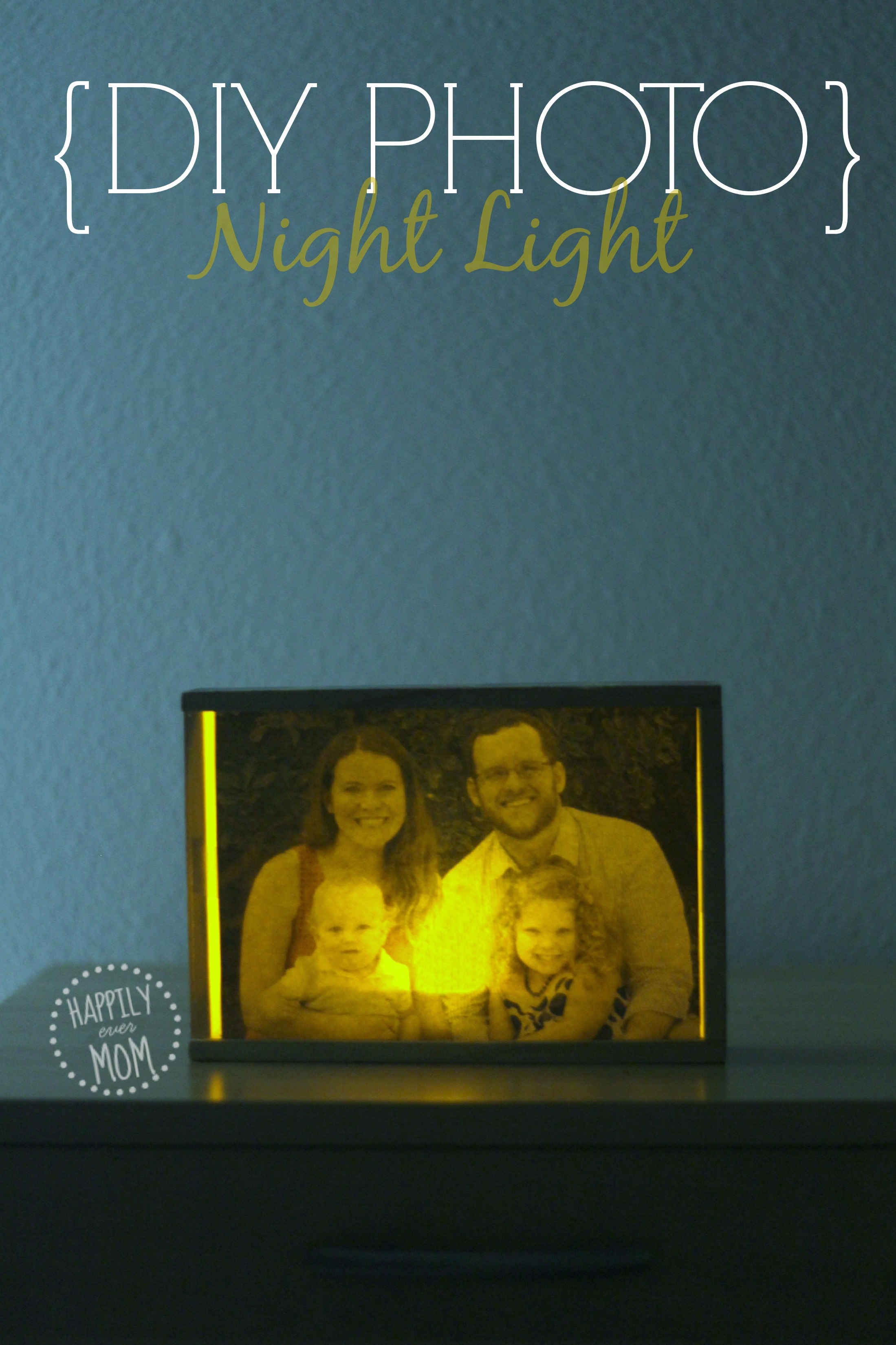 Make a photo night light