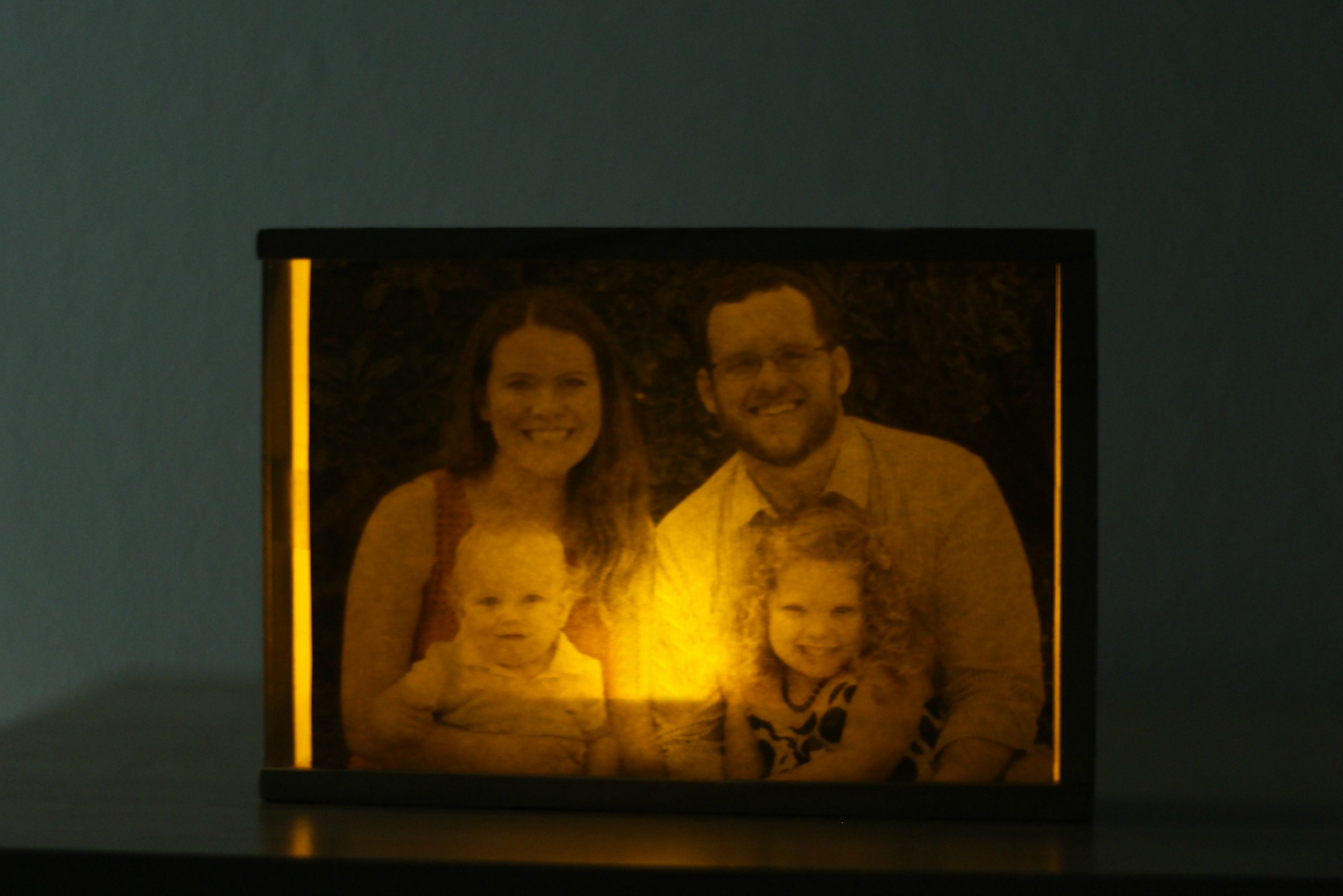family photo night light