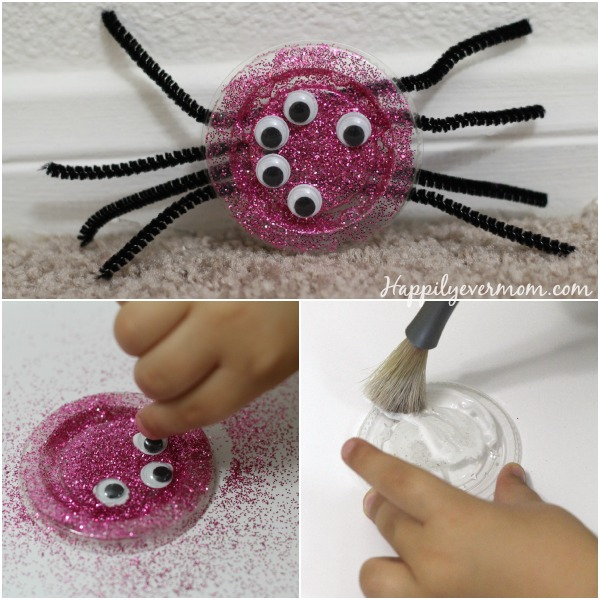 Make your own spiders to decorate this Halloween - it's a quick and easy last minute decoration!