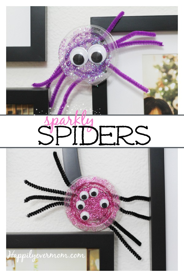 Fun to spider craft to make with kids that's quick and easy. If you need a Halloween craft that isn't too complicated, try these spiders. They turn out so cute!