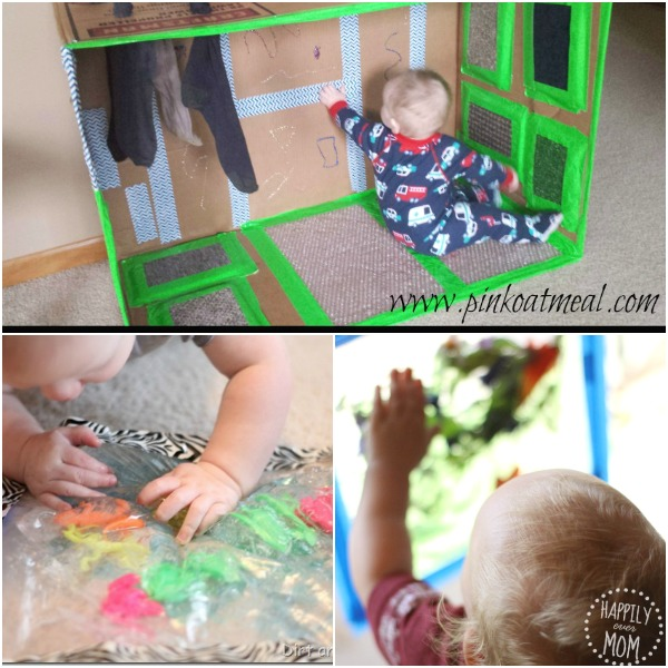 Sensory activities for babies to touch!