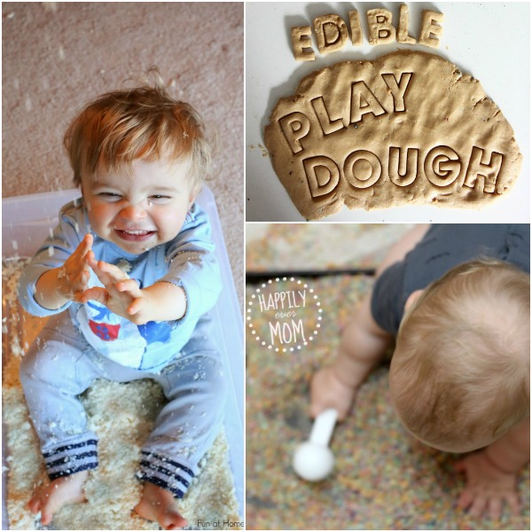 Fun sensory play that babies can eat!