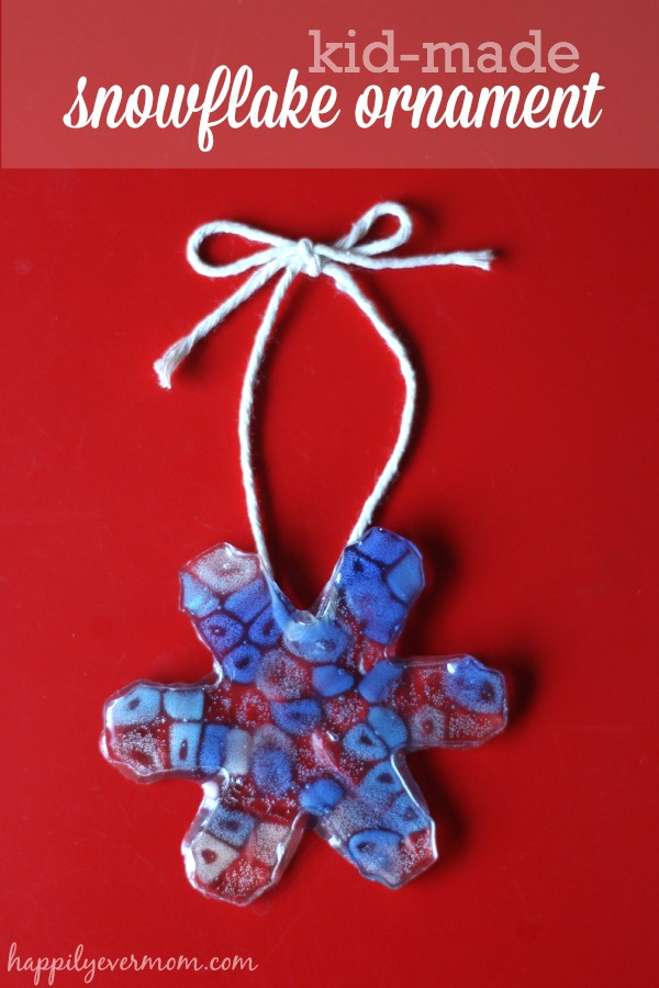 Melted pony bead ornament that kids can make