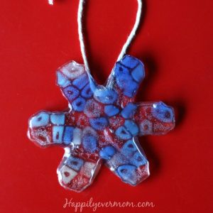 Easiest EVER Melted Pony Bead Ornament