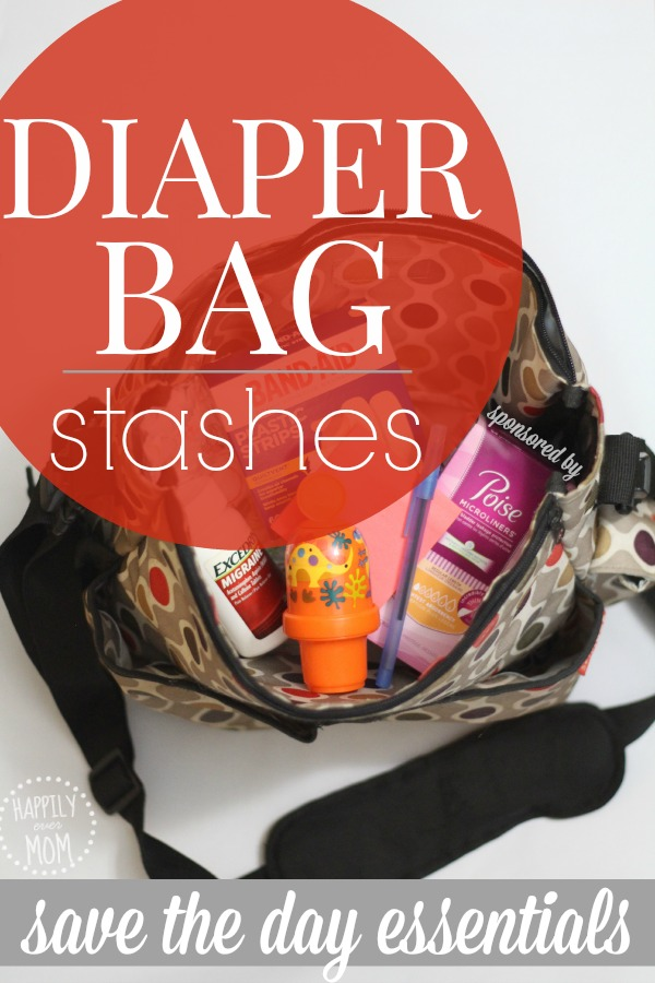 Simple stashes in your diaper bag that can save any Moms day!