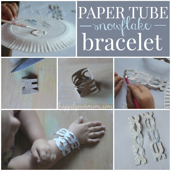 Snowflake Bracelets} Toilet Paper Roll Craft