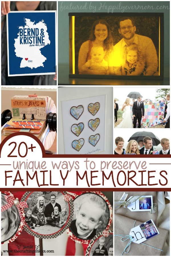 Fun and unique ways to preserve family memories - I love the gift ideas!