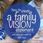 Setting up a Family Vision Statement & How it Will Help Your Kids