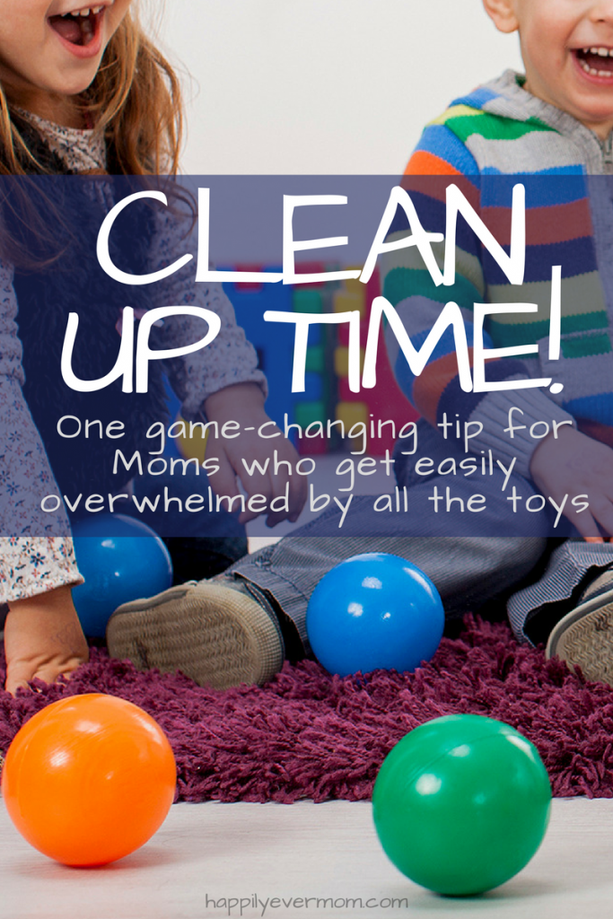 The trick you need to know if you're a Mom who gets overwhelmed by all the toys around the house and you've got kids who LOVE to play, but don't love cleaning up.