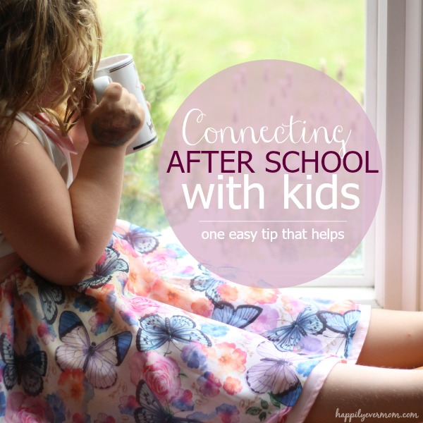 Connect with kids after school, or throughout the day, with this little strategy.  I love how this can work for big families, too.  #ad