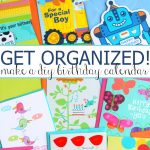 DIY Birthday Calendar that Kids will Love